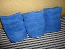 RALPH PALMER FRENCH BLUE (3PC) SET WASHCLOTHS FACE CLOTHS TOWELS 13 X 12""