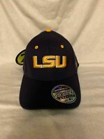 LSU Tigers NCAA Zephyr Purple One Size Stretch Fit Hat Cap Brand New
