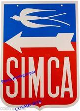 Plaque en métal SIMCA tole AUTOMOBILE voiture marque Française logo pub ancienne
