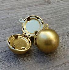SALE Harry Potter 2pc DIY Golden snitch brass ball locket charm necklace lot 118