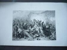 GRAVURE 1880 LES LANCIERS POLONAIS AU COMBAT DE SOMO-SIERRA
