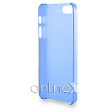 Funda Carcasa Transparente Ultrafina para Iphone 5 Azul a1079