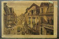 cpa allemagne germany dusseldorf schadowstrasse animee
