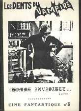 LES DENTS DU VAMPIRE 5 HOMME INVISIBLE MAN H.G WELLS Monster bis French Fanzine