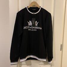 Mens Dolce & Gabbana Print Black Sweatshirt  Size L ( NEW )