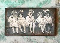Miniature Dollhouse Victorian Children home decor 1:12 Black White antique girls