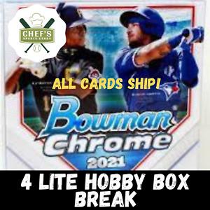 ATLANTA BRAVES - 2021 BOWMAN CHROME LITE - 4 LITE BOX (1/4 CASE) BREAK #8