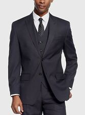 Sean John Men's Black Diamond Texture 40/Long Classic Fit Suit Jacket Blazer