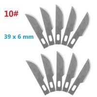 10pc #10 Replacement Hobby Classic Fine Point Blades high steel Craft Knife