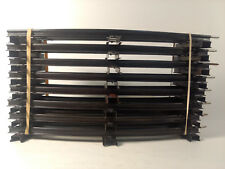 """Lionel O Gauge Train Track 8 Pieces Of Curved Approximently 10"""" In Black   tr530"""