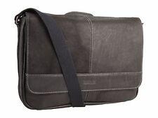 $470 KENNETH COLE MEN BLACK MESSENGER Leather Flapover LAPTOP BRIEFCASE WORK BAG