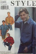 STYLE 2386 VINTAGE MENS LOOSE FITTED SHIRT PATTERN SM-XL UNCUT