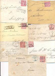 Briefmarken NDP, 6 Briefe , 1 Ganzsache