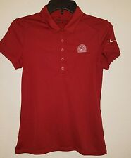 "Womens Nike Golf Tour Performance Golf Polo Shirt Sz Small Red ""Crooked Stick"""
