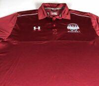Wolverines Football Polo Shirt Mens XL Under Armour Heat Gear Woodstock High WHS