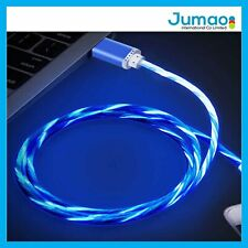 "Câble de charge USB Type C Gamer LED Bleu pour Samsung Galaxy Tab A (2018) 10.1"""