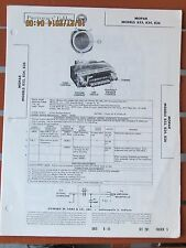 MOPAR OEM 1956 1957? Dodge Desoto Plymouth Motorola 833 Radio Photofact Folder
