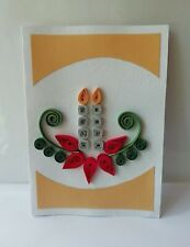 Handmade Paper Quilling Christmas Card Beautiful High Quality Greeting Card