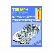 Triumph Paper 1962 Car Service & Repair Manuals