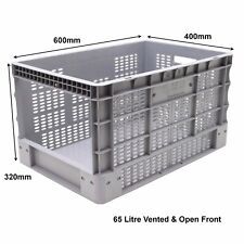 Strong Stock Picking Open Front Vented Plastic Storage Boxes Euro Box 65 Litre