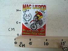 STICKER,DECAL MAC LIEROP 1972-1997 GRAND PRIX 125CC 1997 20-8