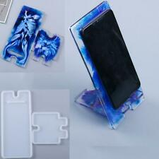 Silicone Mobile Phone Stand Holder Casting Mold Resin Epoxy Mould Crafts Tool
