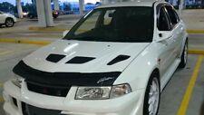Car Hood Bra + LOGO Fits MITSUBISHI Lancer EVO  V 5 VI 6 99 00 01 1999 2000 2001