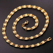 Men's Jewelry 18 K Gold filled Snail Chain Cool Link Chain Necklace 6 mm 30 inch