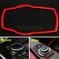 Red Interior Multimedia Buttons Frame Cover Trim For BMW Series F30 320 X5 X6