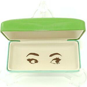 Kate Spade Green Turquoise Sunglass Eyeglass Case Hard Shell Eye Glass CASE ONLY