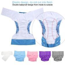 5Color Adult Adjuatable Washable Pocket Nappy Cover Diaper Pants Cloth Underwear