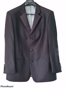 Ted Baker Endurance Dinner Suit Tuxedo Prom100% Wool Chest 42S Trousers 38 Black