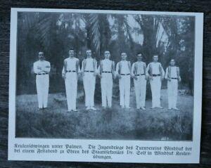 LPZ) Blatt Turnverein Windhuk 1913 Deutsch Südwest Afrika DSWA Sport Turner