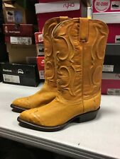 Los Altos Mens Size 8 EE Wide Ostrich Buttercup 990402 Cowboy Boots Made In USA