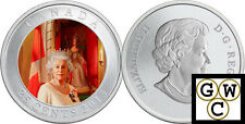 2013 60th Ann of The Queen's Coronation Colorized 25-Ct Coin (Oversized) (13203)