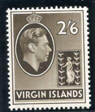 British Virgin Island 1938 KGVI 2s 6d sepia superb MNH. SG 118.