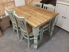 RECLAIMED PAINTED 4' X 3' FARMHOUSE TABLE BESPOKE SIZES & COLOURS FRENCH GRAY