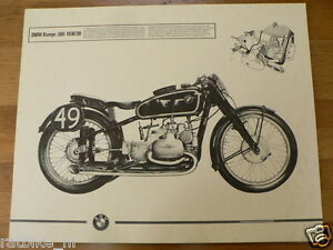 HELMUT KRACKOWIZER RENNMOTORRAD POSTER BMW KOMPRESSOR 500 1938/39 MOTORCYCLE