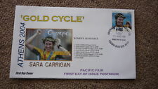 2004 AUSTRALIAN OLYMPIC GOLD MEDAL WIN FDC, ATHENS SARA CARRIGAN CYCLING EVENT