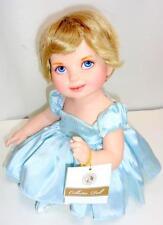 Franklin Mint Princess Diana Jointed Porcelain Baby Doll Blue Elegance Edition