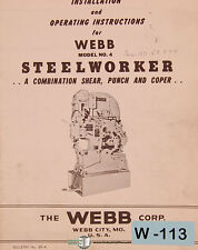 Webb 4, Steelworker, 6L Bending Roll Clutch Assembly Parts Operations Manual