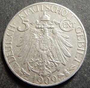 China German Kiau Chau 5 cents 1909 Rare!