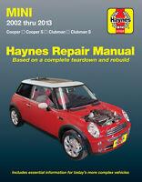 Mini Cooper, Cooper S, Clubman & Clubman S 2002-2013 Repair Manual