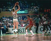 LARRY BIRD Boston Celtics - In the Gardens Autographed 8x10 Photo (RP)