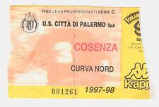 54201 Biglietto stadio - Palermo Cosenza - 1997/1998