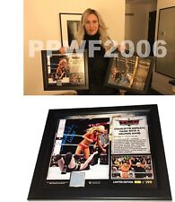 WWE CHARLOTTE HAND SIGNED AUTOGRAPHED PLAQUE TLC WITH PIC PROOF COA #1 PLAQUE