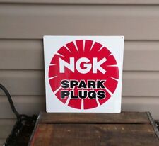 Ngk Spark Plug Metal Sign Gas Gasoline gas oil Garage Mechanic Shop 12x12 50123
