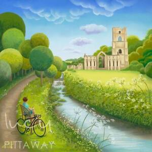 A Moment Of Reflection (Fountains Abbey) Tour de Yorkshire Collection by Lucy Pi
