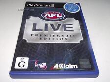 AFL Live Premiership Edition PS2 PAL Preloved *Complete*