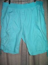 Autograph Turquoise Lace side Casual summer cotton DRILL shorts size 20 NEW